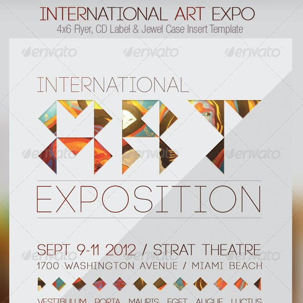 International Art Expo Flyer CD Template