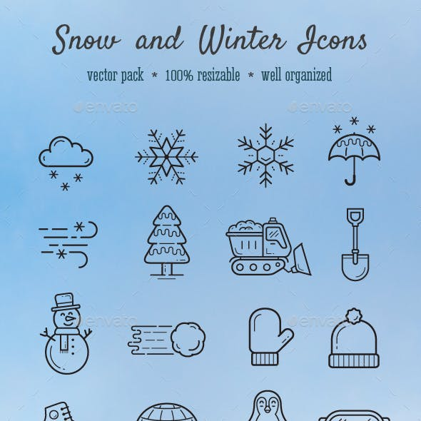 Snow and Winter icons