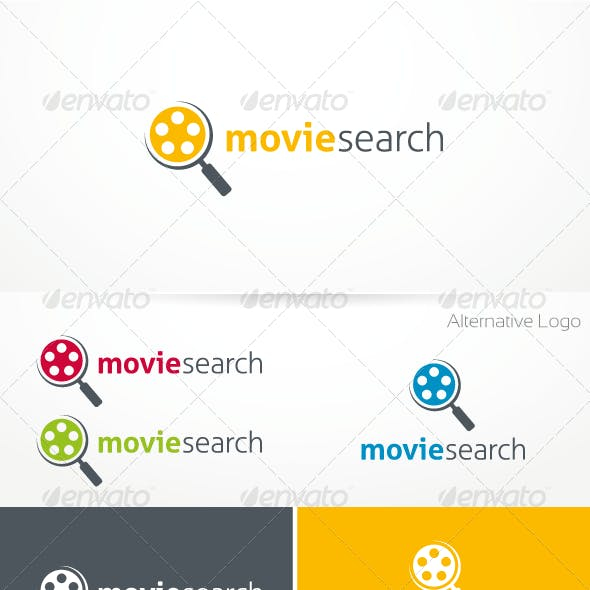 Movie Search Logo Template