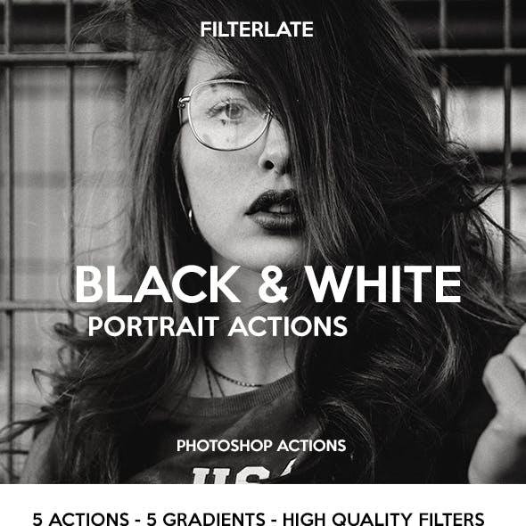 Black & White Portrait Actions