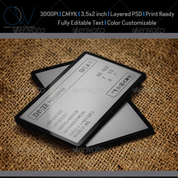 Camera LCD Business Card