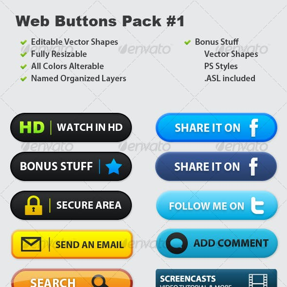 Web Buttons Pack #1