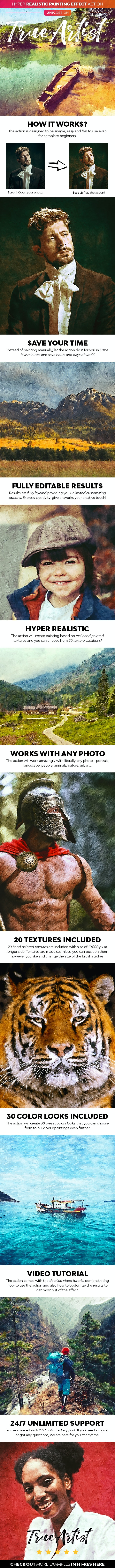 True Artist Photoshop Action - Photo Effects Actions