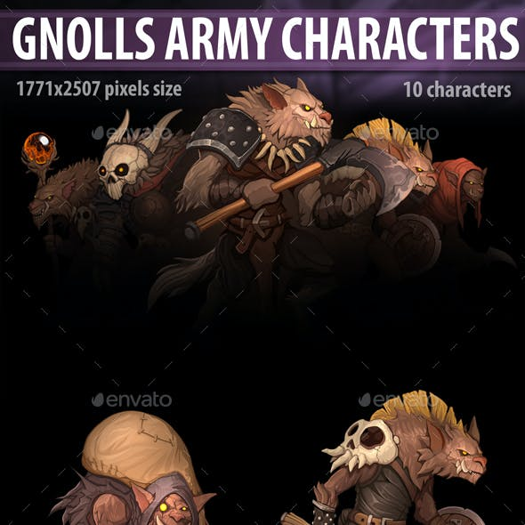 Gnolls Army Characters