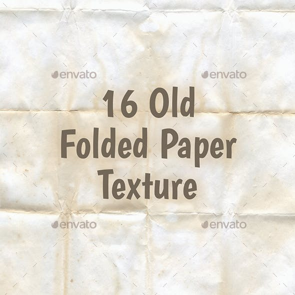 16 Old Folded Paper Texture Backgrounds