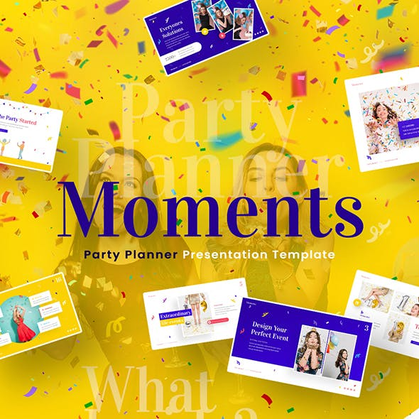 Moments Creative Party Planner Powerpoint Template