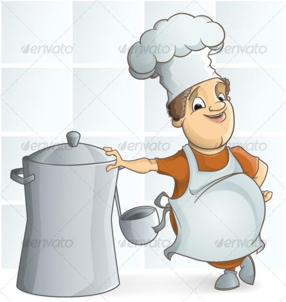 Chief Cooker - Characters Vectors