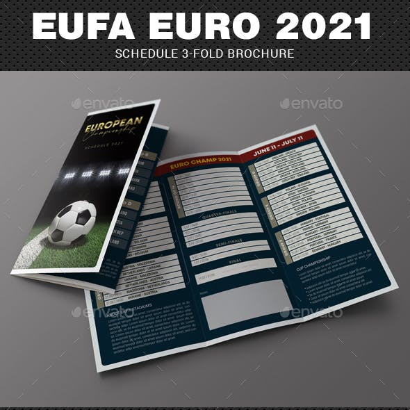 European Soccer Championship 2021 Schedule 3-Fold Brochure