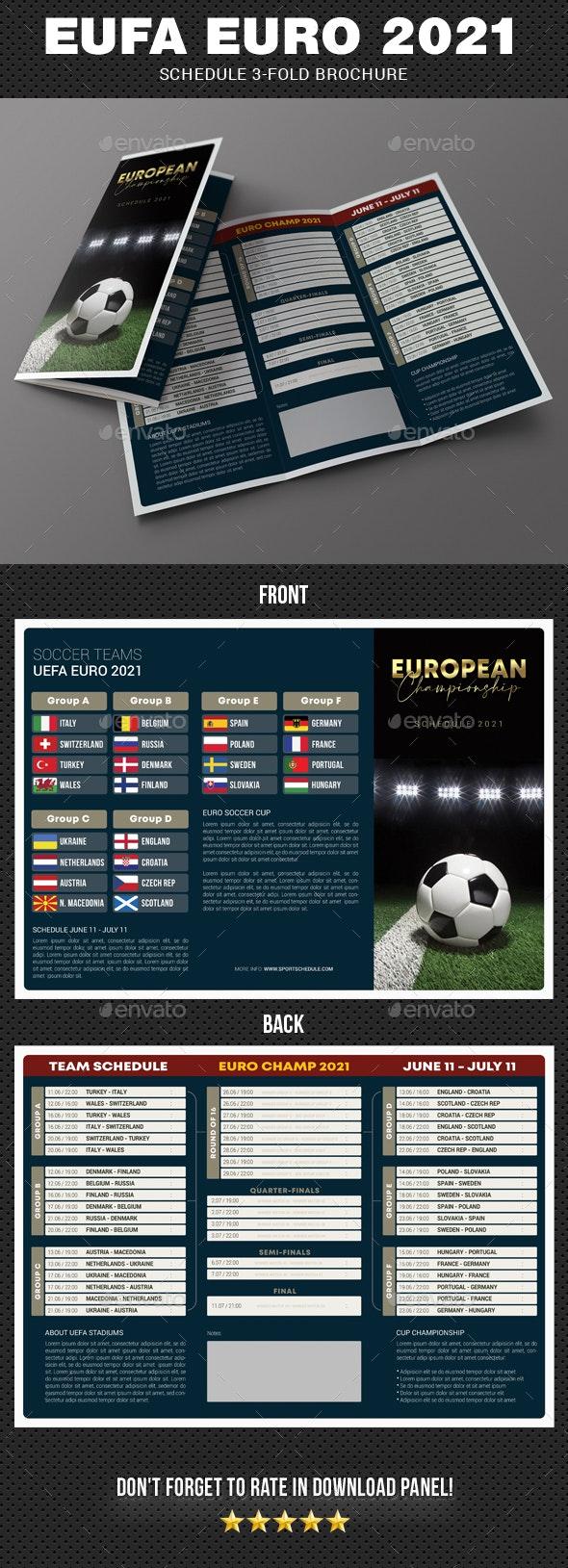 European Soccer Championship 2021 Schedule 3-Fold Brochure - Informational Brochures
