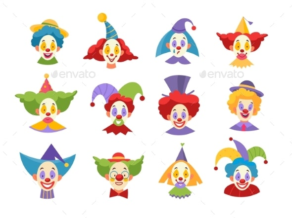 Clown Faces - People Characters