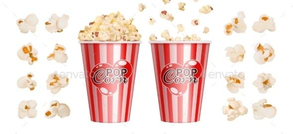 Realistic Popcorn - Food Objects