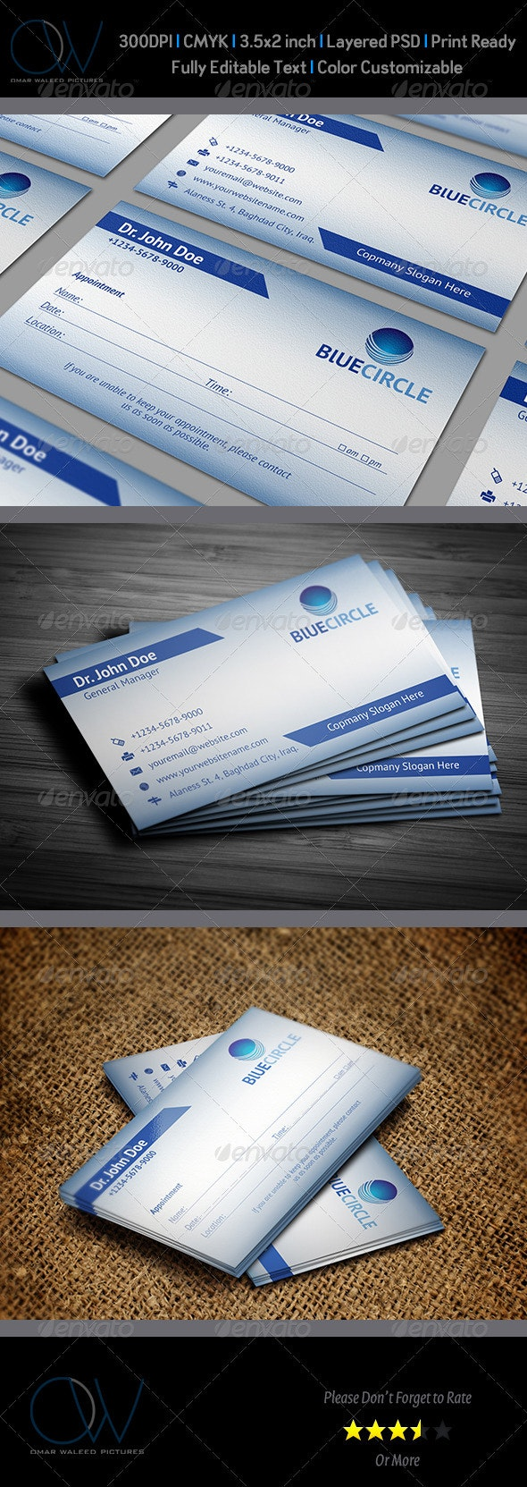 Appointment Business Card - Industry Specific Business Cards