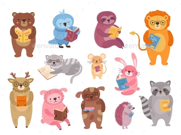 Animals Reading - Animals Characters