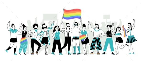 Pride Parade - People Characters