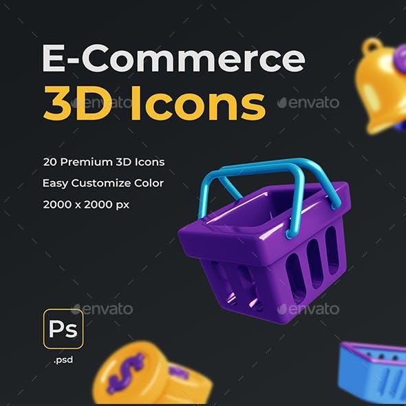 E-commerce 3D Icons