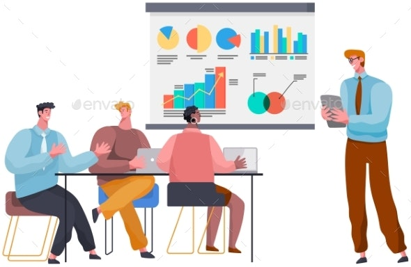 Successful Business Project Presentation Company - Business Illustrations