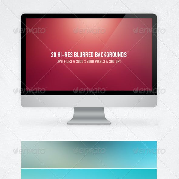 20 Blurred Backgrounds
