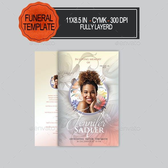 Funeral Program Teamplate