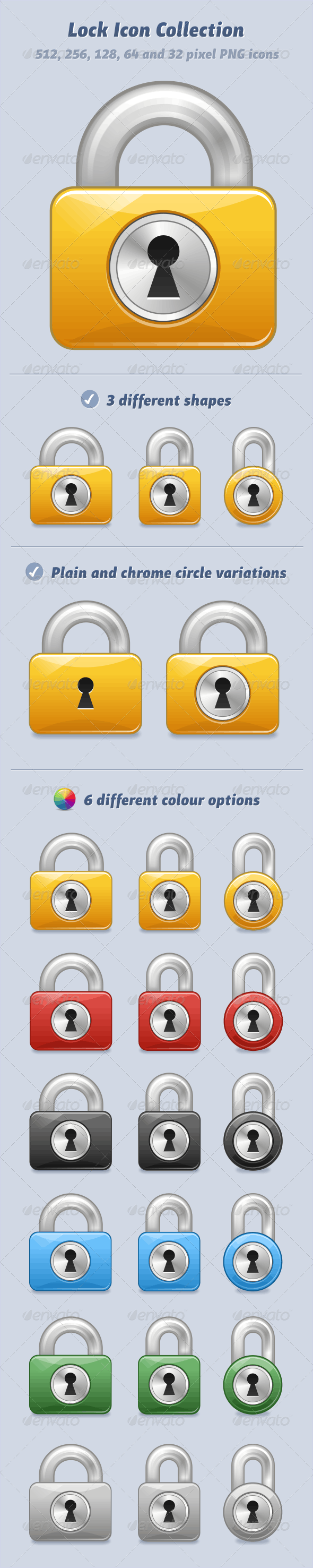PNG Lock Icon Collection - Web Icons