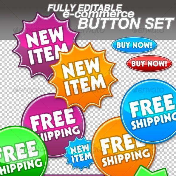 Web Shop / Ecommerce / Online Store Buttons