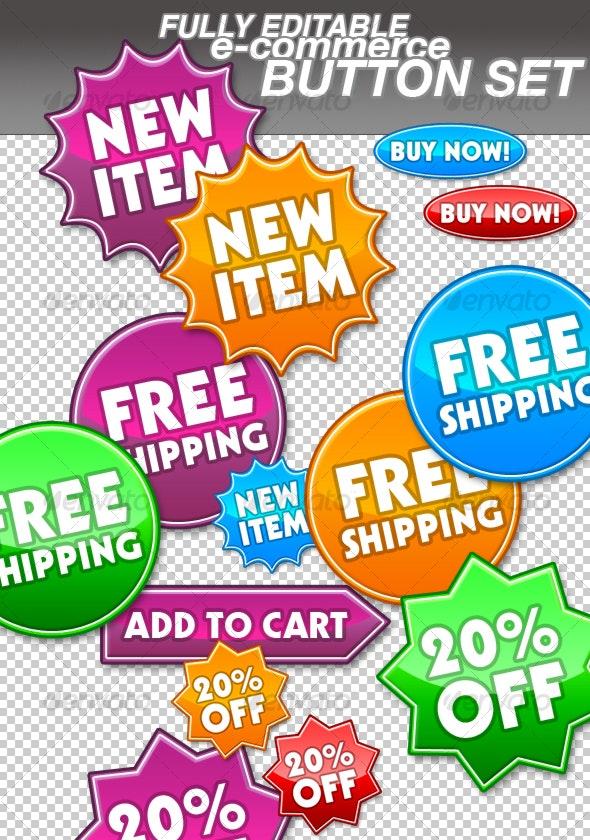 Web Shop / Ecommerce / Online Store Buttons - Buttons Web Elements