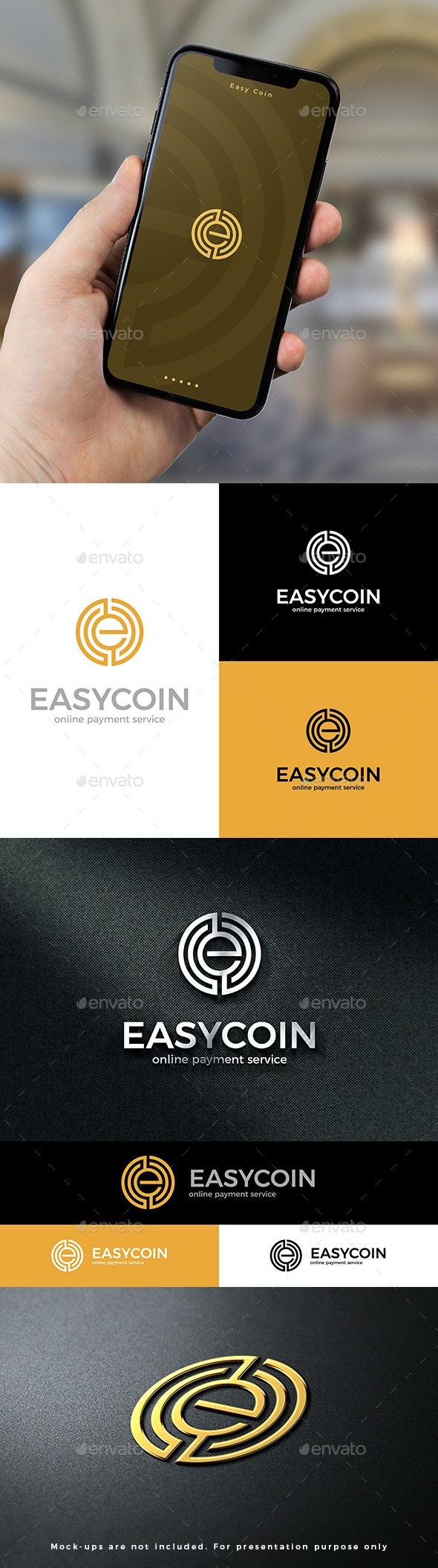Easy Coin Logo E Letter - Letters Logo Templates
