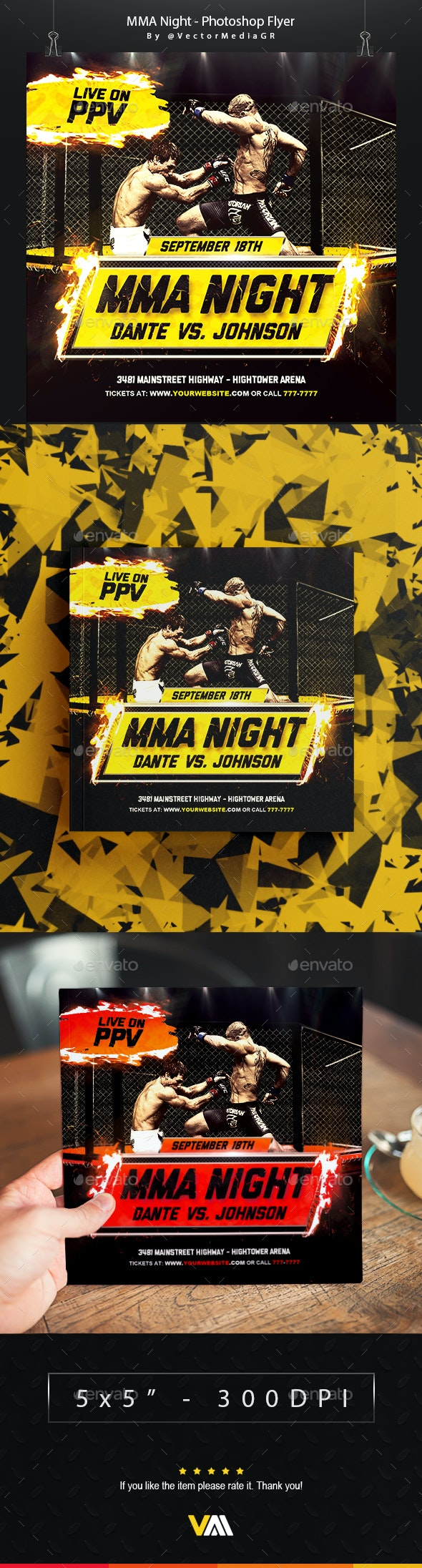 MMA - Flyer - Sports Events
