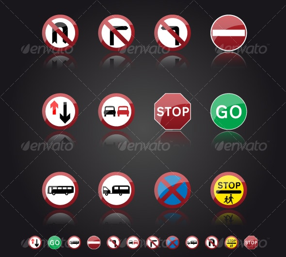 UK Road Signs: Giving Orders - Man-made objects Objects