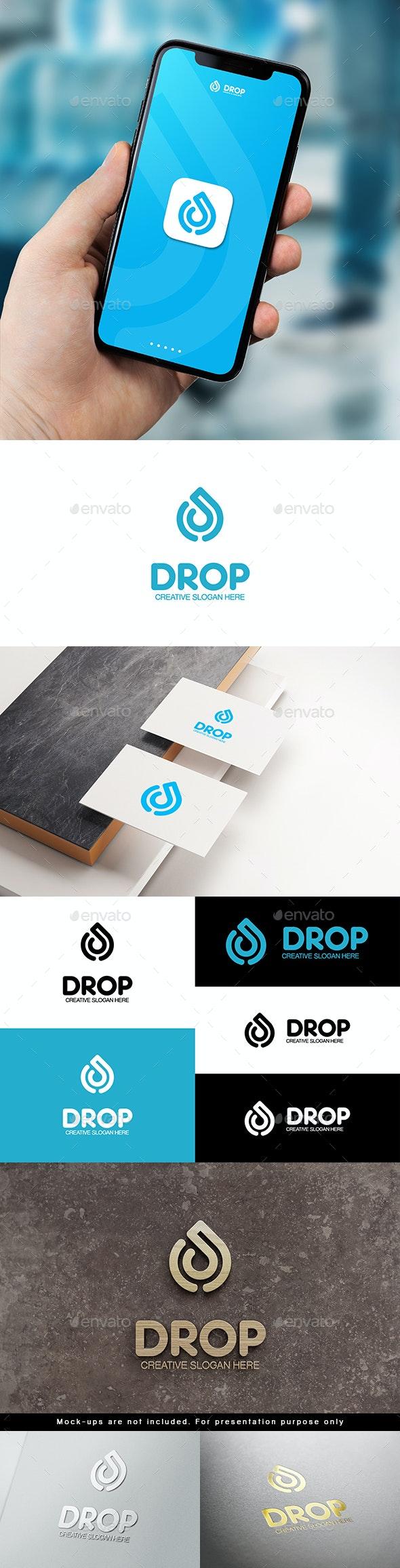 Drop Logo D Letter - Nature Logo Templates
