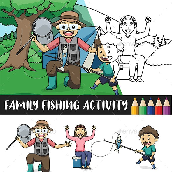 Fishing Activity   Coloring For Kids