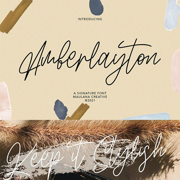 Amberlayton Signature Font