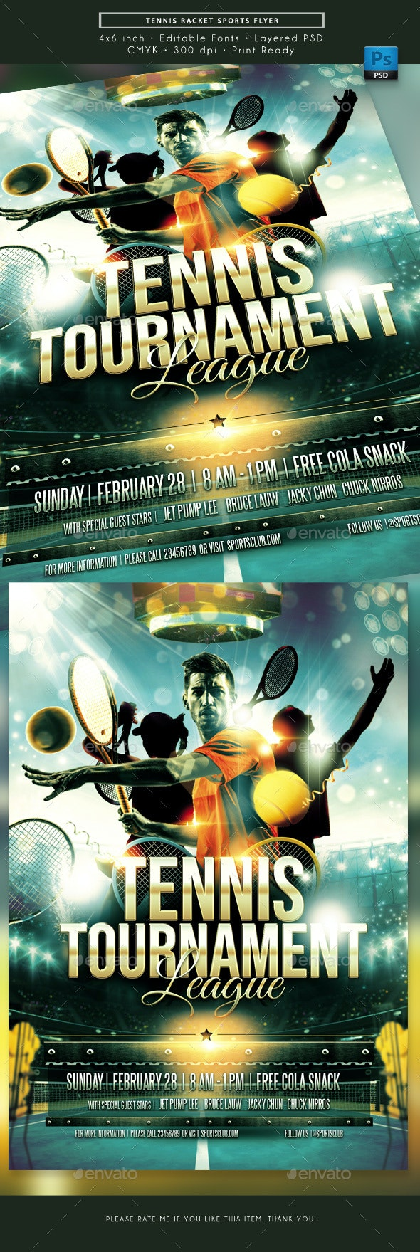 Tennis Racket Sports Flyer - Sports Events
