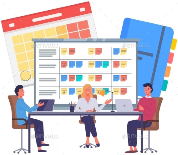Business Strategy Planning Project Management - Business Illustrations
