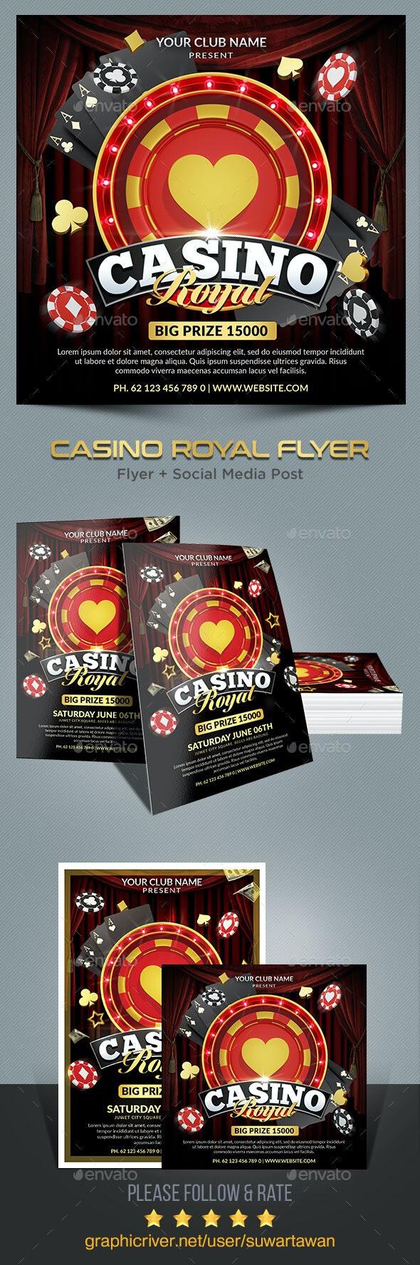 Casino Royal Flyer - Print Templates
