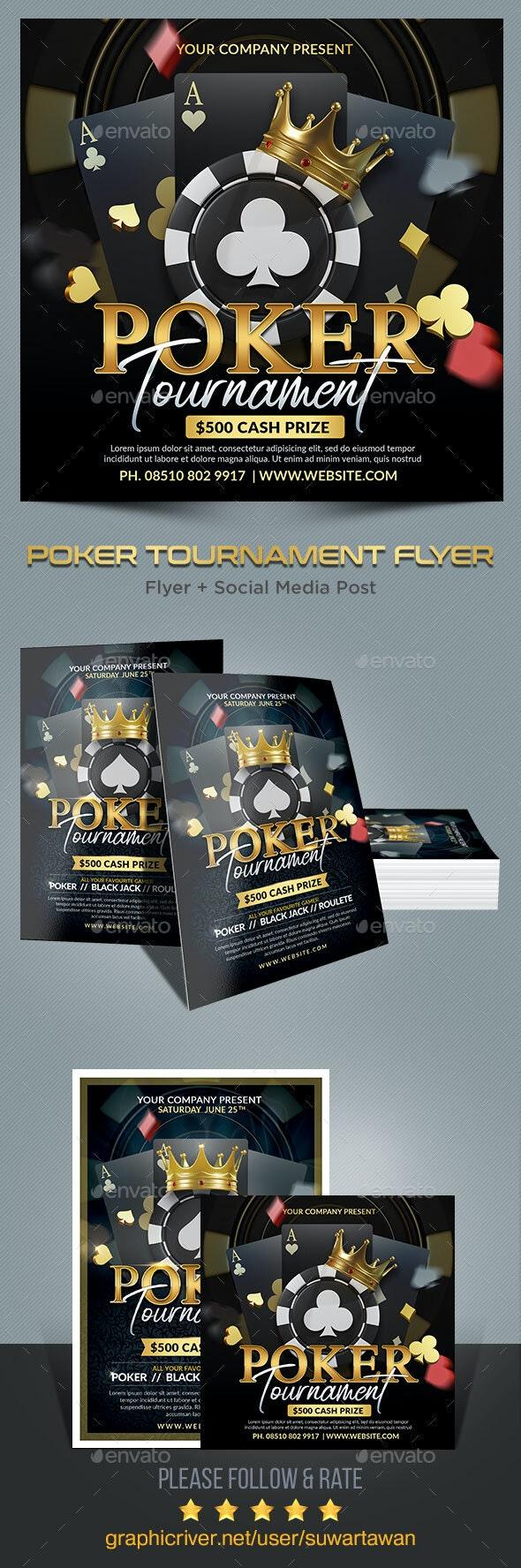 Poker Tournament Flyer - Print Templates