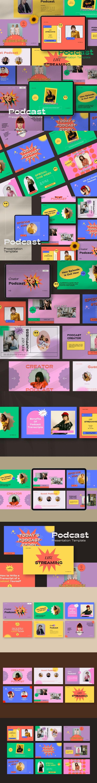 Podcast Googleslide Template - Google Slides Presentation Templates