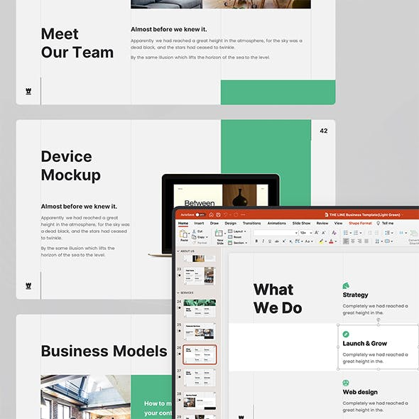 THE LINE - Full Animated Business Template (PPTX)