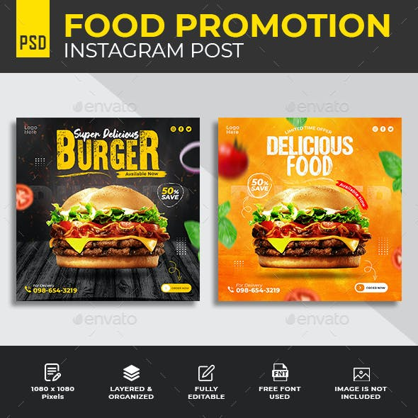 Special Food Social Media Post Banner Template