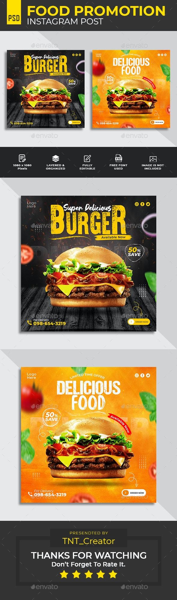 Special Food Social Media Post Banner Template - Social Media Web Elements