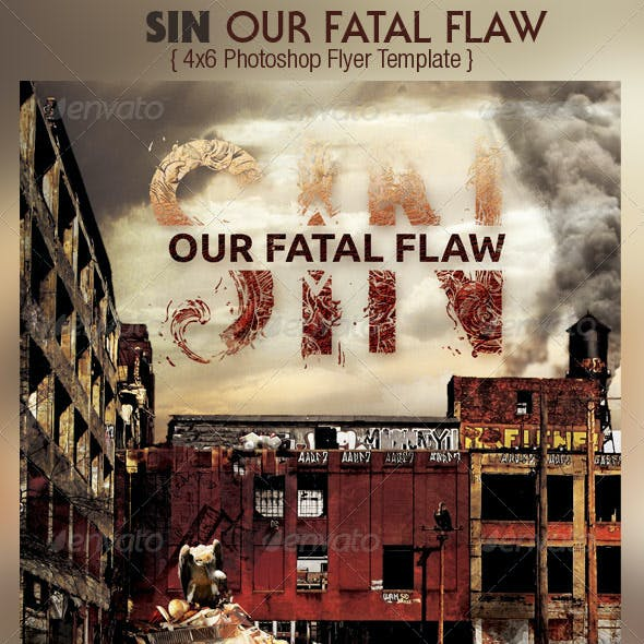 Sin Church Flyer CD Template