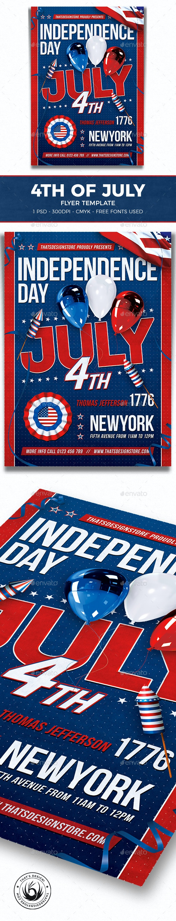 Independence Day Flyer Template V6 - Clubs & Parties Events