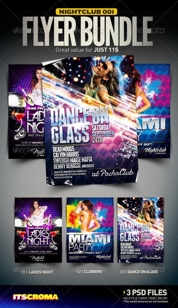 Nightclub Flyer Bundle   001 - Clubs & Parties Events