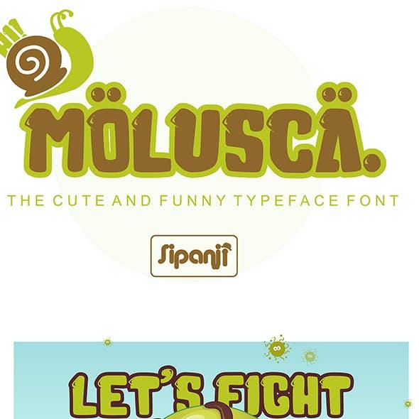Molusca - Cute 3D Display Font