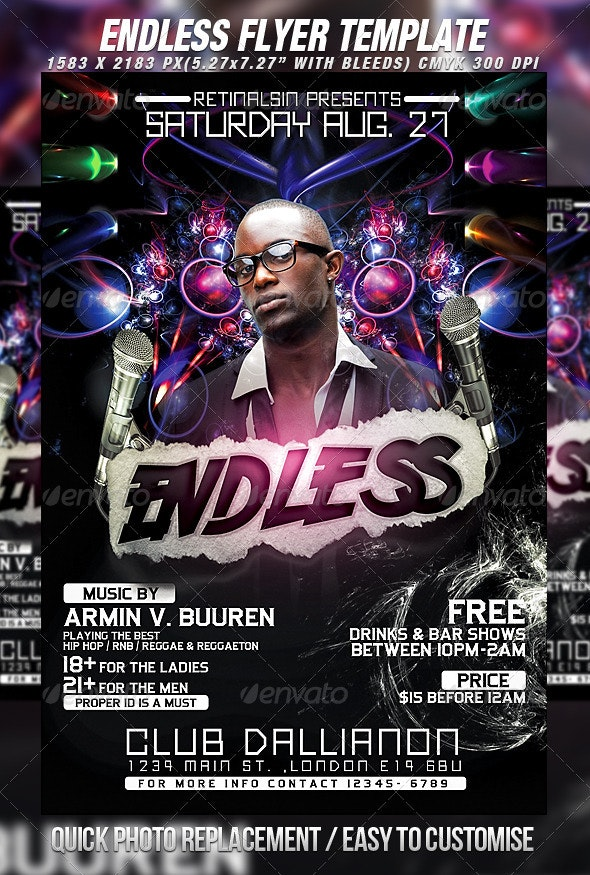 Endless Flyer Template - Clubs & Parties Events