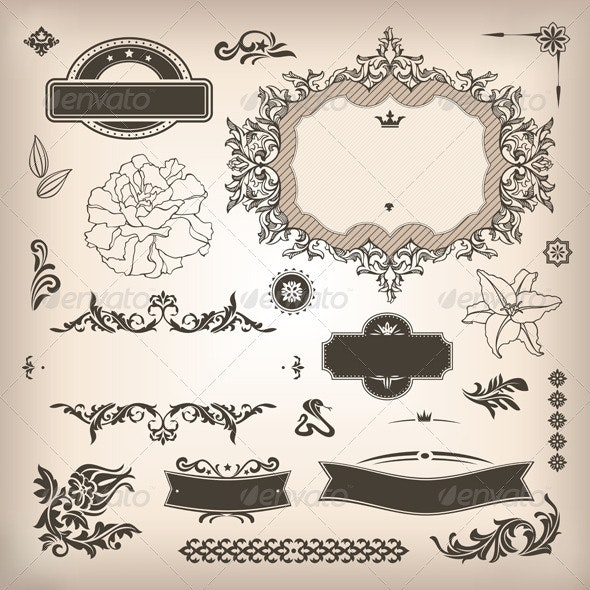 Design Elements And Page Decoration - Borders Decorative