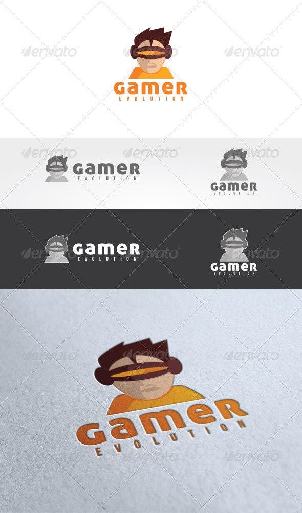 Gamer Evolution Logo Templates - Humans Logo Templates