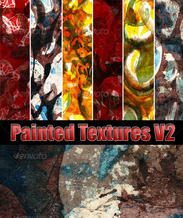 Painted Texture Pack V2 - Art Textures
