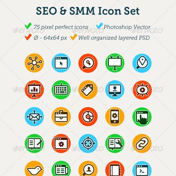 75 SEO & SMM Icons