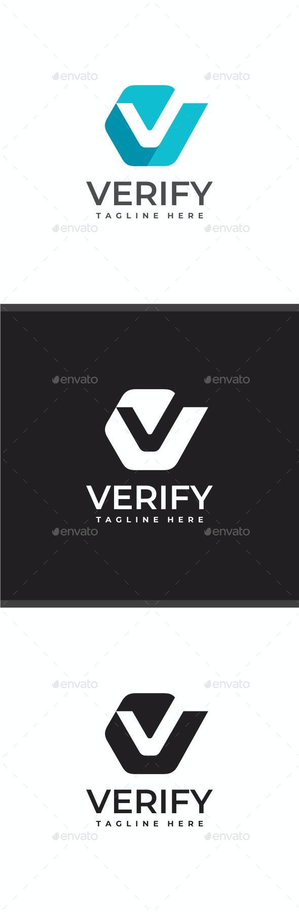 Verify - Letter V Logo - Letters Logo Templates