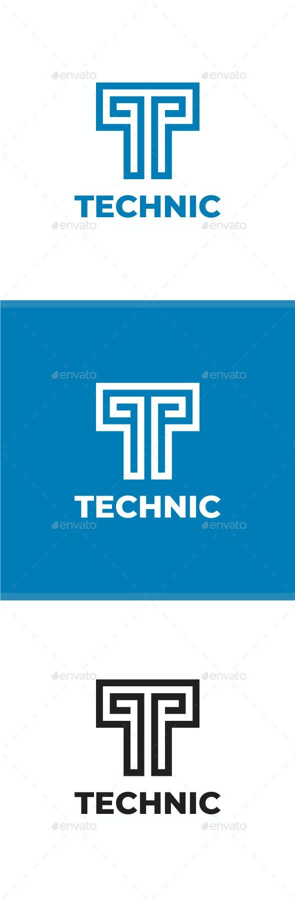 Technic - Letter T Logo - Letters Logo Templates